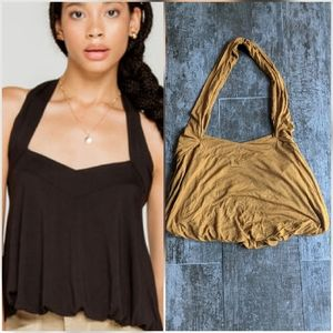 FREE PEOPLE Cece Halter Cropped Tank Top